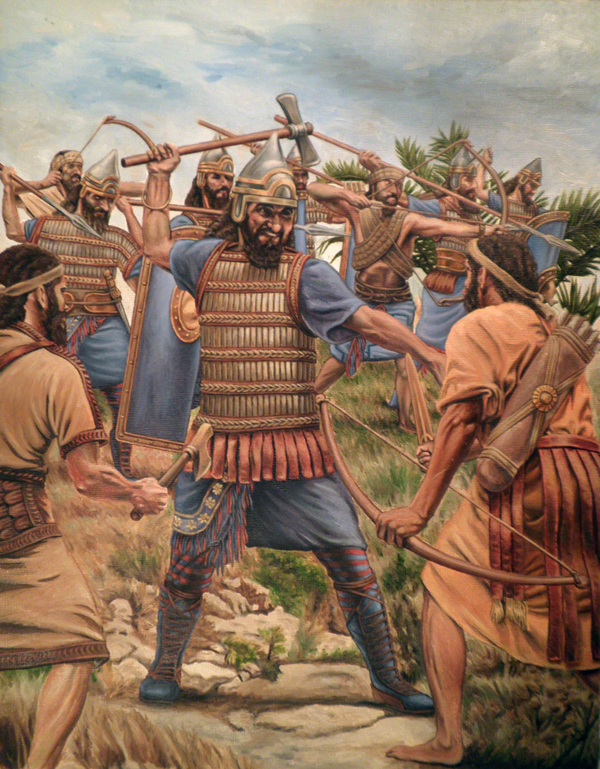 Assyrian troops under Assurbanipal invade Elam at the Battle of Ulai