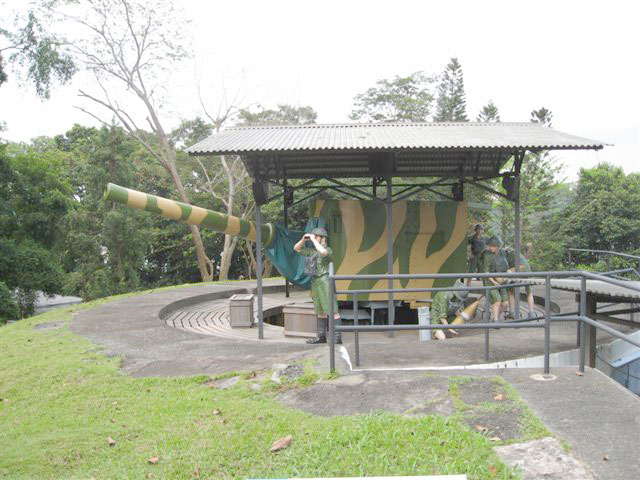 Gun emplacement in Singapore